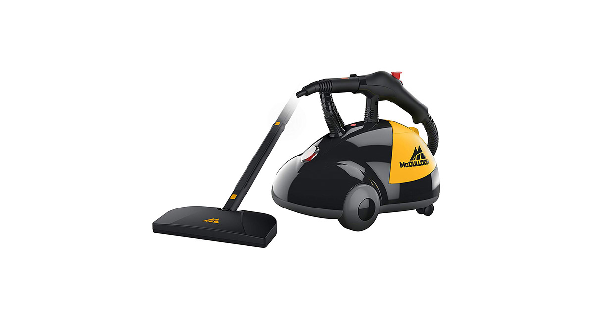 McCulloch MC1275 Heavy Duty Cleaner Chemical Free Pressurized Steam Cleaner image