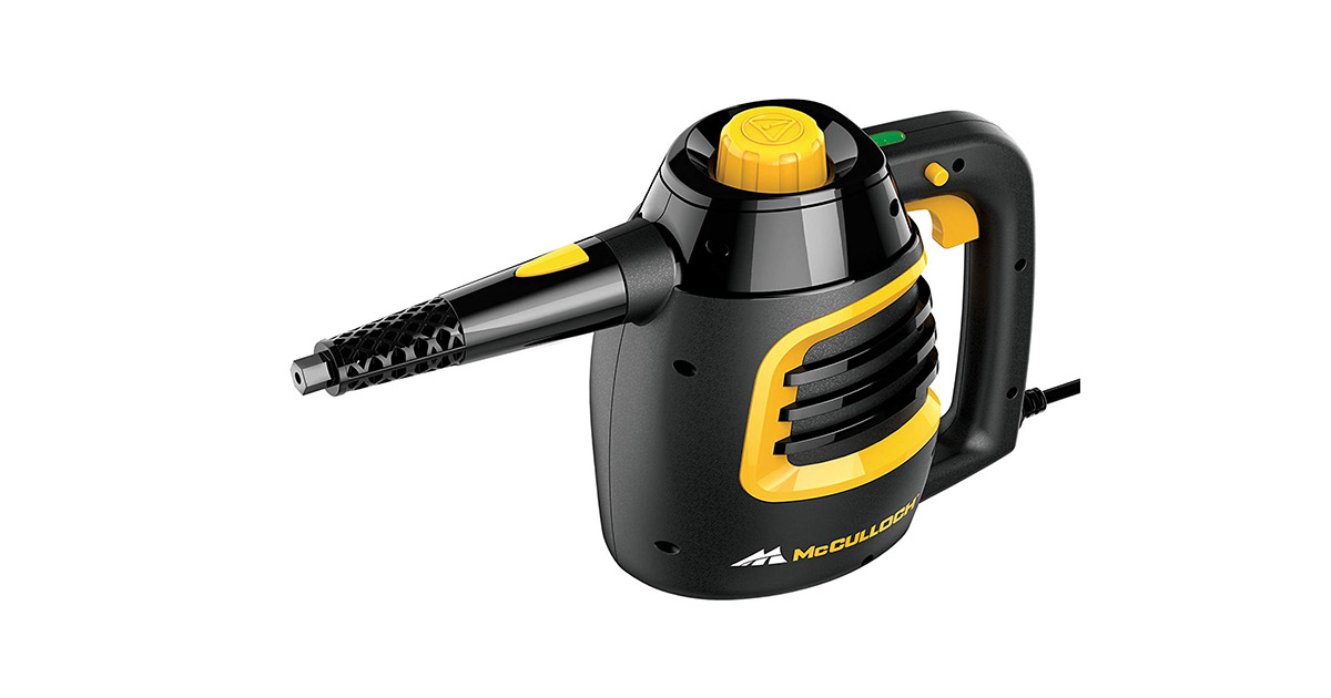 McCulloch MC1230 Black Handheld Steam Cleaner image