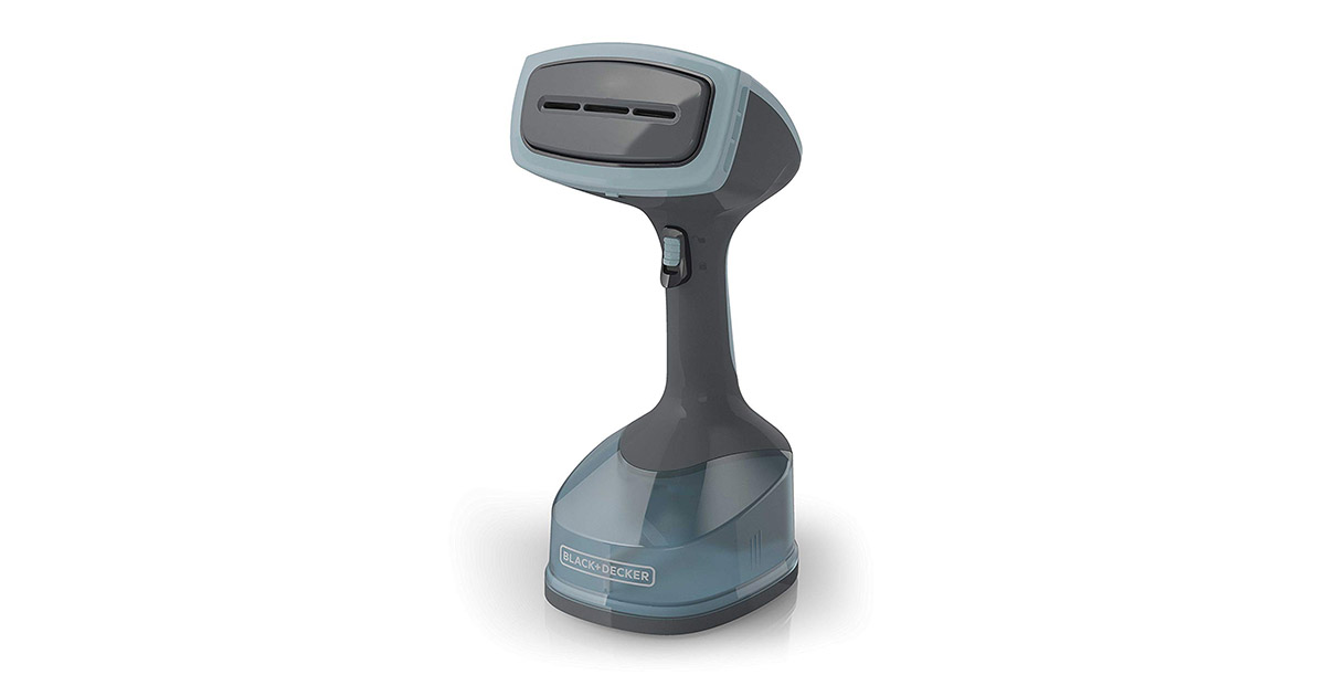 BLACKDECKER HGS200 Gray Blue Advanced Handheld Garment Fabric Steamer image