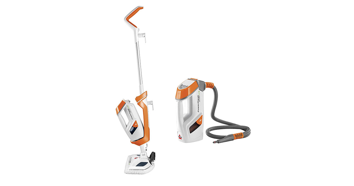 Bissell 1544A PowerFresh Lift Off Pet Orange Hard Wood Floor Cleaner Steam Mop image