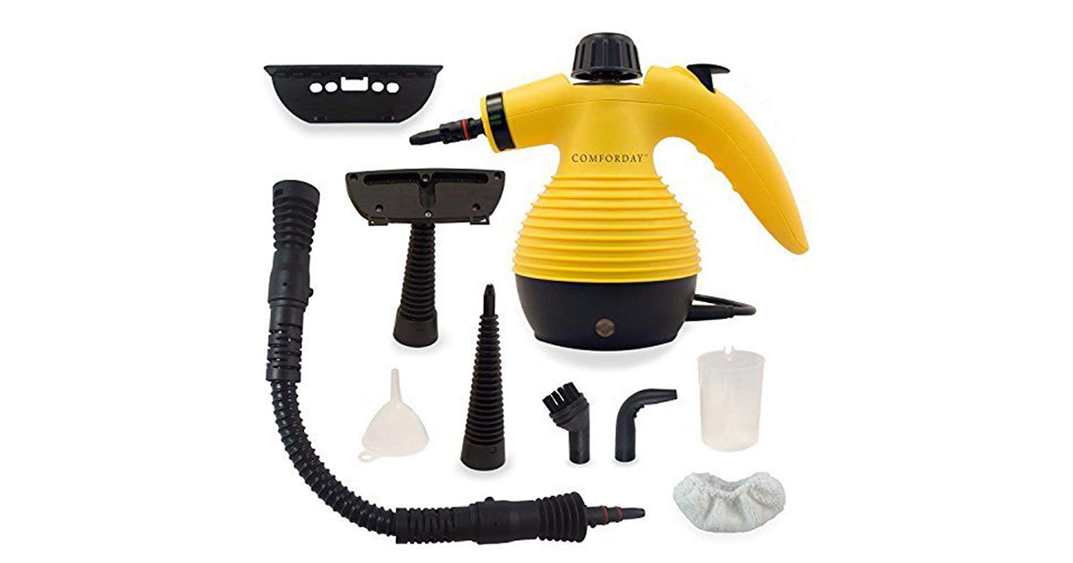Comforday AX-AY-ABHI 72764 Multi Purpose High Pressure Chemical Free Yellow Upgrade Steam Cleaner image