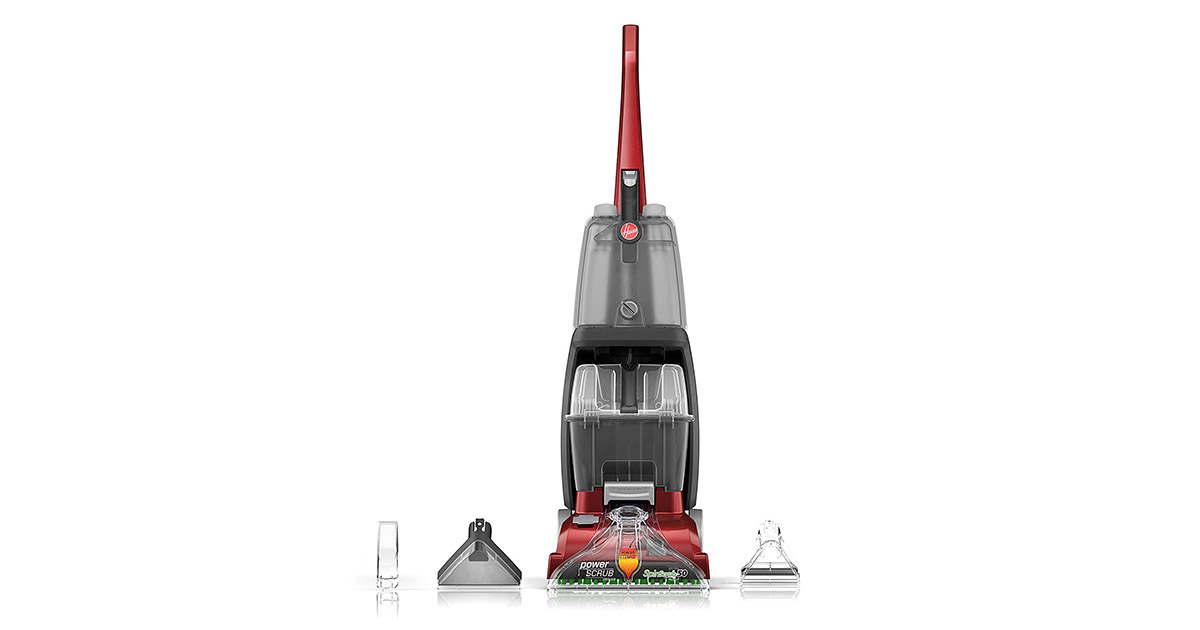 Hoover FH50150 Power Scrub Deluxe Red Carpet Cleaner Machine image