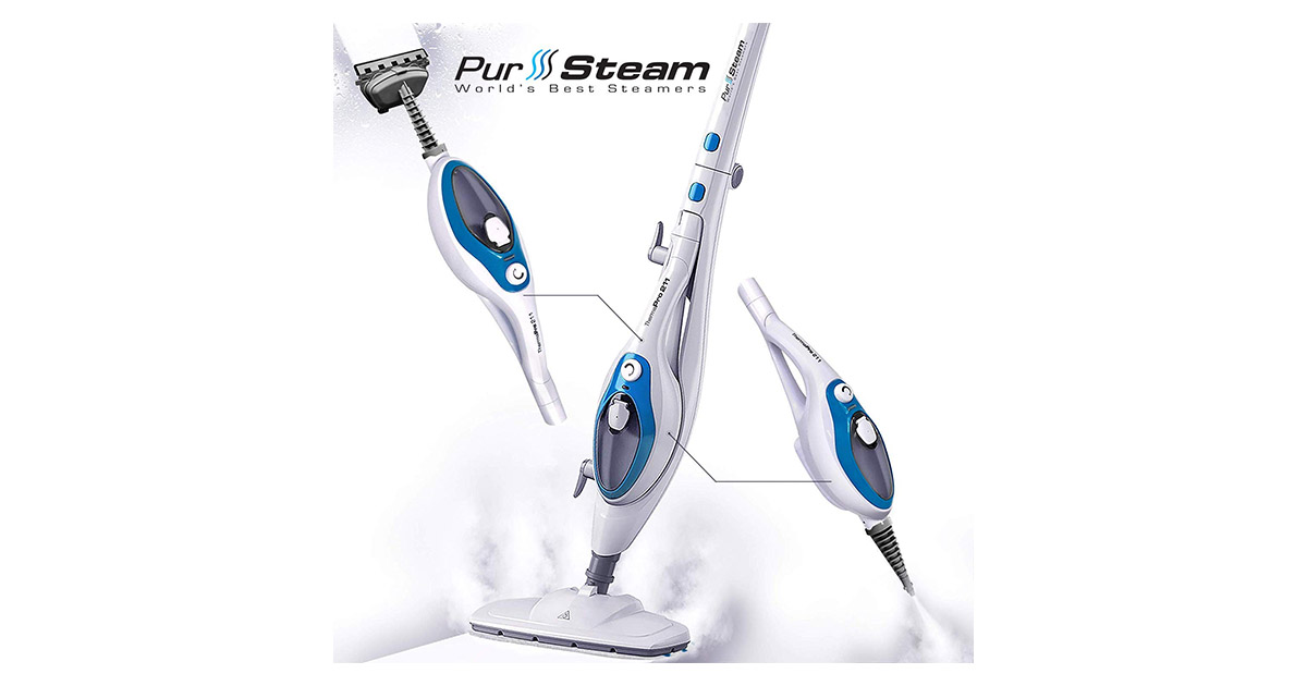 PurSteam Therma Pro 211 Pet Friendly Steamer Whole House Multipurpose Use Steam Mop Cleaner image