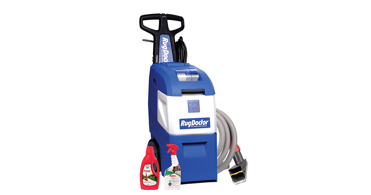 Rug Doctor 95521 Mighty Pro X3 Pet Pack Blue Carpet Cleaner image