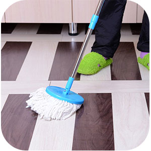 Cleaning with a regular mop image